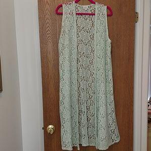 Lularoe Soft lace Joy Light Mint Green (M) NWOT